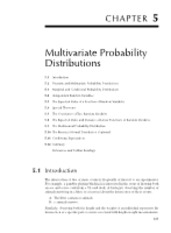 Chapter 5 Multivariate Probability Distributions