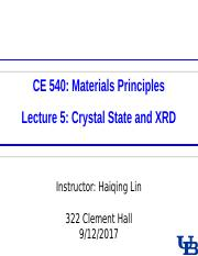0912 Lecture-5 Crystal State and XRD(1).ppt