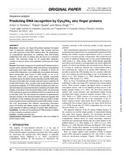 predicting DNa recognition