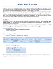 Using MSWord for peer reviews