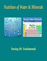 2015 Nutrition of Water & Minerals-Stud