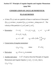 [D] Section 15.7 - Conservation of Angular Momentum - Planar Motion