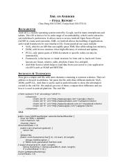 Xml on Android Final Report.docx