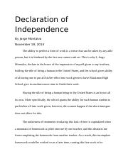 Declaration of Independence Paper