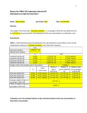 CHEM 101 - B03 - Laboratory Exercise #3  Report - Weam Abbas - V00863129