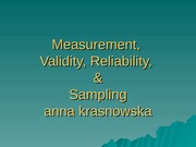 Measurement Sampling Show