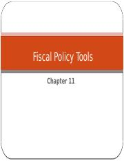Chapter 11  - Fiscal policy.pptx
