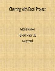 Math 108 _Charting with Excel Project