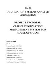 information system project proposal