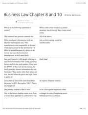 Business Law Chapter 8 and 10 flashcards | Quizlet