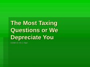 Lecture 28 - The Most Taxing Questions or We Depreciate You