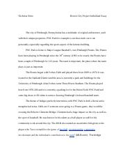 Honors City Project Individual Essay