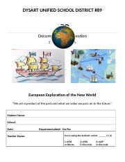 5th grade DBQ project European Explorers docx - DYSART