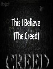 This I Believe (Creed)