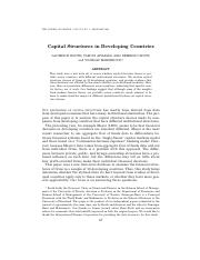 capital structure in developing countries.pdf