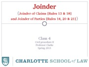 Class 4 (sec 1) - Joinder