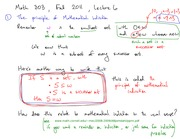 Math 303 Mathematical Induction Notes
