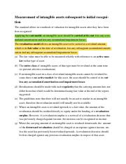 Measurement of intangible assets subsequent to initial recognition .docx