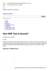 How GRE Test Is Scored