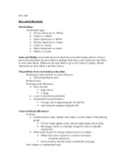 Lecture notes- race and acheivement