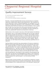HSA3383CBE DEL 5 Memo Quality Improvement in Healthcare Erica Dehncke .docx