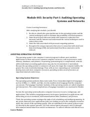 Module 3 Security Part I Auditing Operating Systems and Networks.pdf
