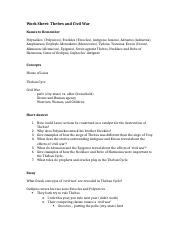 Worksheet Thebes and 'Civil War'