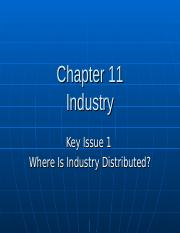 Chapter 11 Key Issue 1