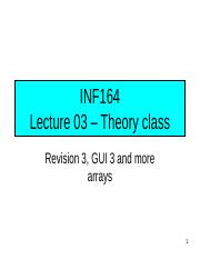 INF164 2012 - Lecture 03 - Theory class_SS