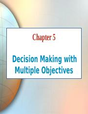Chapter 5 Multi-objective decision-making (Part 3).ppt