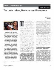 2. The Limits to Law, Democracy and Governance