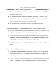 Rubric and Assignment Sheet for Essay One