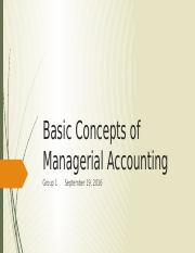 Basic concepts of Managerial  Accounting-1