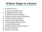 Basic Stages in a Search