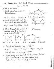 Exam 3 Solution Summer 2014 on Calculus 1