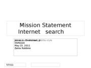Mission Statement Internet