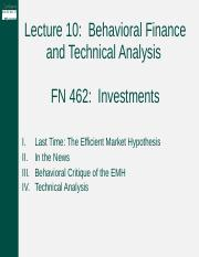 Lecture 10 -- Technical Analysis.pptx