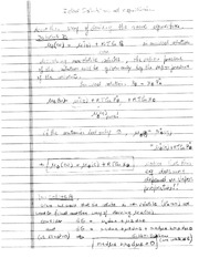 Equilibrium of a component and a mixture (ideal solutions)