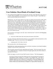 RBS Case Solution