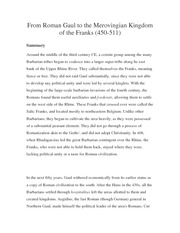 From Roman Gaul to the Merovingian Kingdom of the Franks