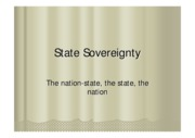 Wk 2 State sovereignty 2009