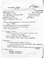 Contigency Theory Notes