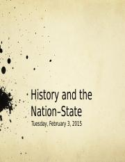 5.+History+and+the+Nation-State+101+W15