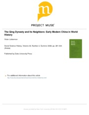 12_Lieberman+Qing+Dynasty+and+Its+Neighbors