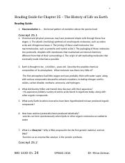 Bio Reading Guide Chapter 25