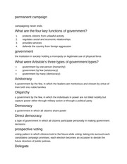 Democracy in the United States Homework