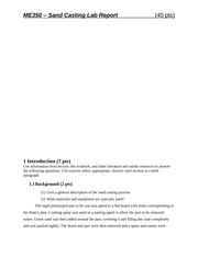 lab1 sand casting كتب / على بدر أعلن الدكتور محمد إسماعيل عميد كلية علوم الإسكندرية إن الكلية سوف تنفذ مشروع إستخدام الطاقة الشمسية فى عدد من مبانى الكلية وذلك فى مبانى محرم بك والشاطبى.