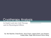Cryotherapy Analysis