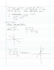 College Algebra Notes - 2.3 - Linear Equations and Rates of Change