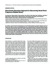 Rose Scent_Genomics Approach to Discovering Novel Floral Fragrance_Related Genes